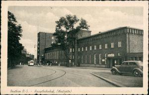 Postcard  Beuthen O.S. Bytom   Beuthn Bahnhof - Westseite 1935