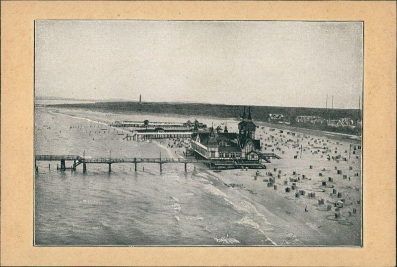 Postcard Swinemünde Świnoujście Seebrücke und Stadt 1910
