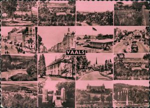 Postkaart Vaals 16 Ansichten, Straße, Grenze, Denkmal 1957