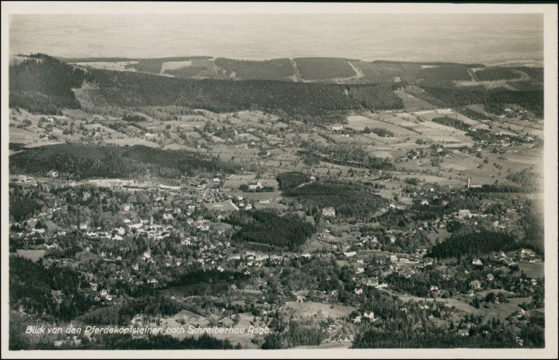 Postcard Schreiberhau Szklarska Poręba Stadt 1930