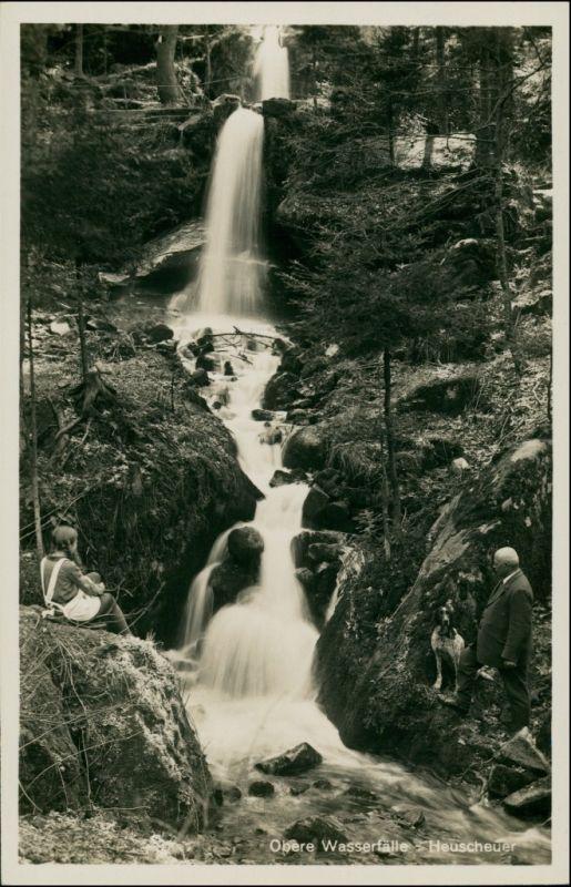 Karlsberg Karłów Waterfall/Heuscheuer - Obere Wasserfälle 1930