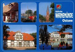 .Mecklenburg-Vorpommern  Warnemünde, Ostsee, Mehrbild-AK 5 Foto-Ansichten 2003
