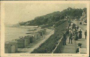 Sainte-Adresse Le Boulevard Maritime  Boulevard Carte Postale Frankreich 1913