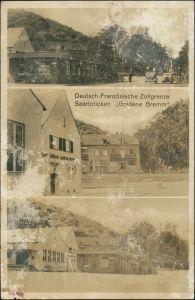 Ansichtskarte Saarbrücken 3 Bild Zollgtenze Goldene Bemm 1938
