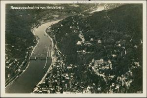 Ansichtskarte Heidelberg Luftbild aus großer Höhe 1932