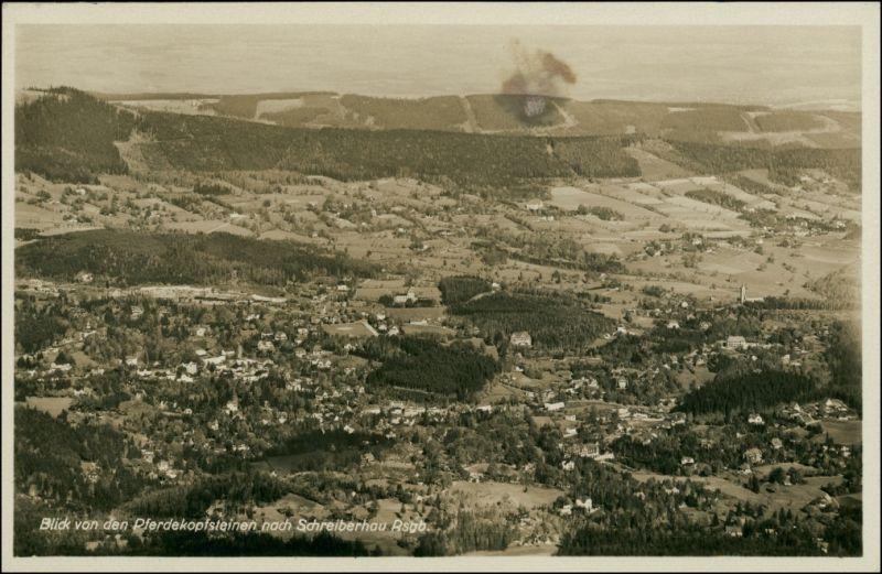 Postcard Schreiberhau Szklarska Poręba Stadtblick 1929