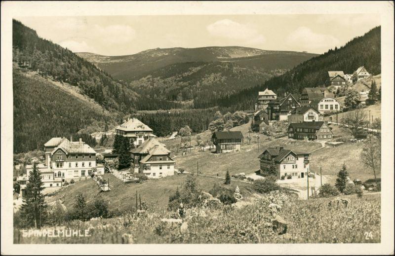 Spindlermühle Špindlerův Mlýn | Spindelmühle Stadtpartie 1940