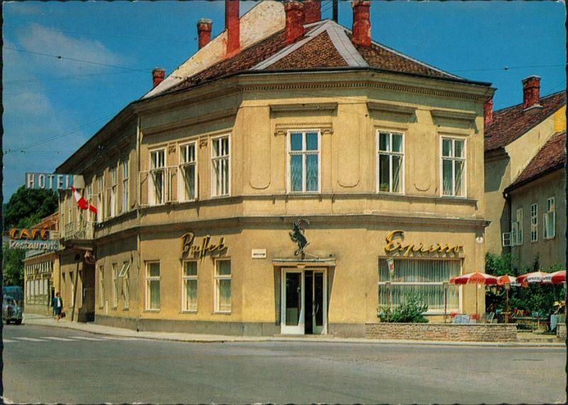 Baden Bei Wien Hotel Schwarzer Bock Espresso Bar Strassen Partie 1972