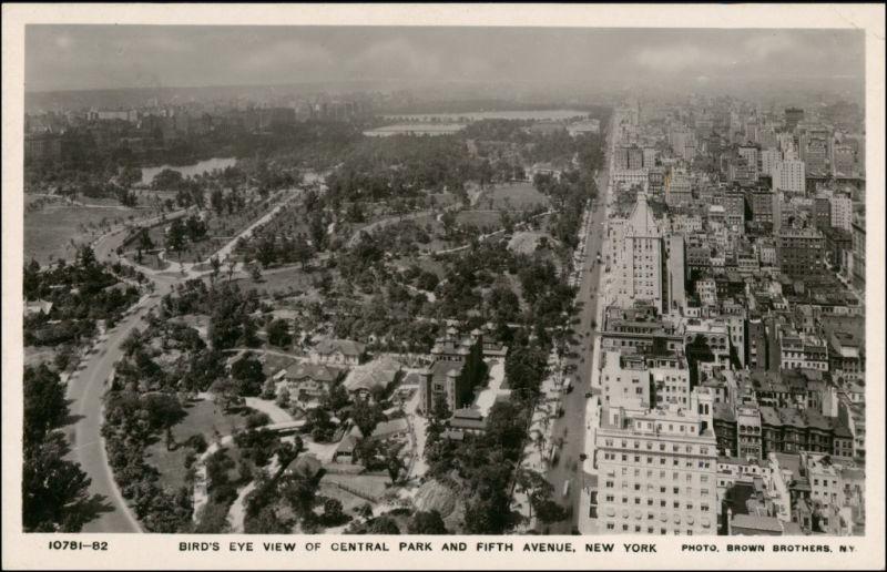 Postcard Manhattan-New York City Luftbild Aero Fliegeraufnahme 1932