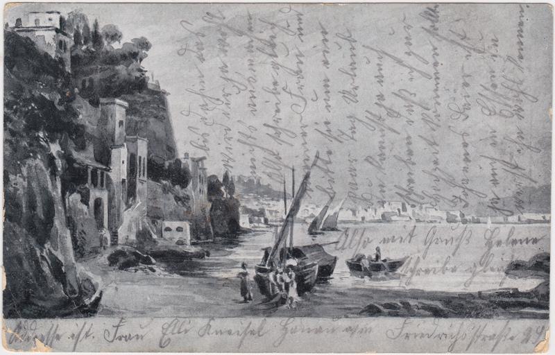 Ansichtskarte  Stadt am See 1913