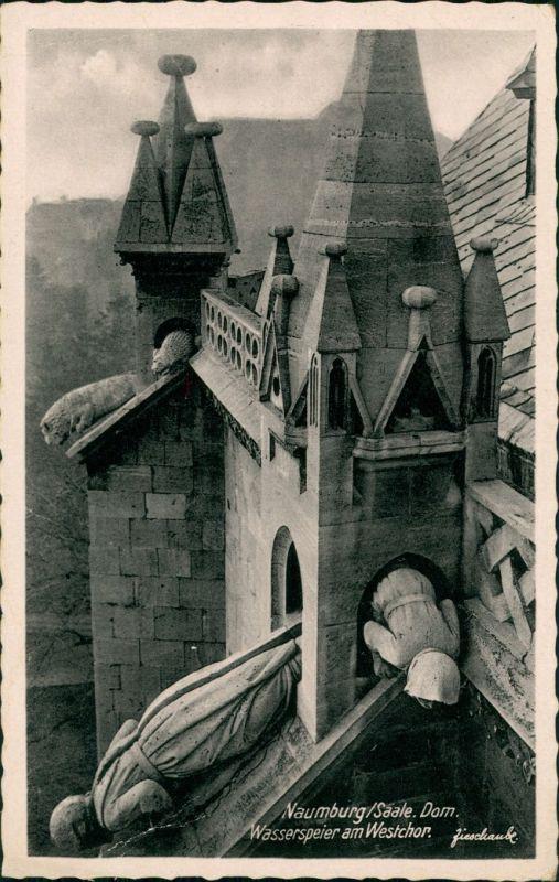Ansichtskarte Naumburg (Saale) Wasserspeicher am Dom 1932