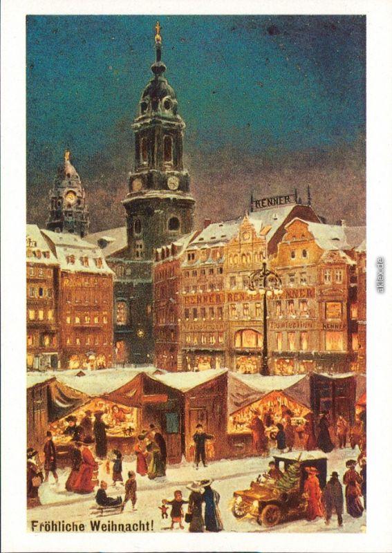 Dresden Institut und Museum für Geschichte: Altmarkt im Winter um 1900 1987