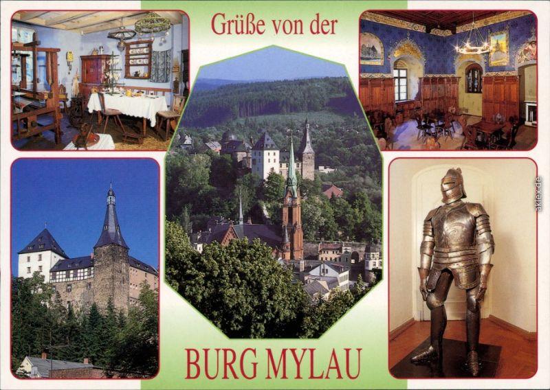 Mylau Burg Mylau - Museum: Weberstube, Metzschzimmer, Ritterrüstung 1995