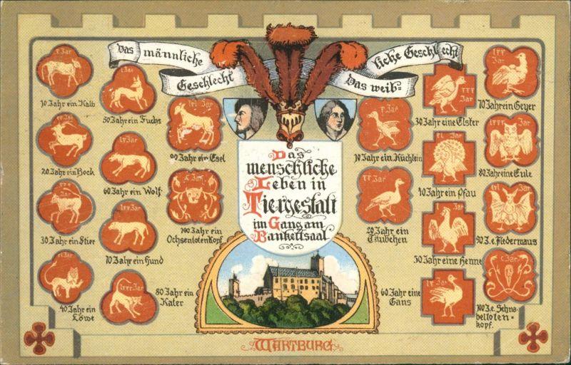 Ansichtskarte Eisenach Wartburg - Heraldik 1926