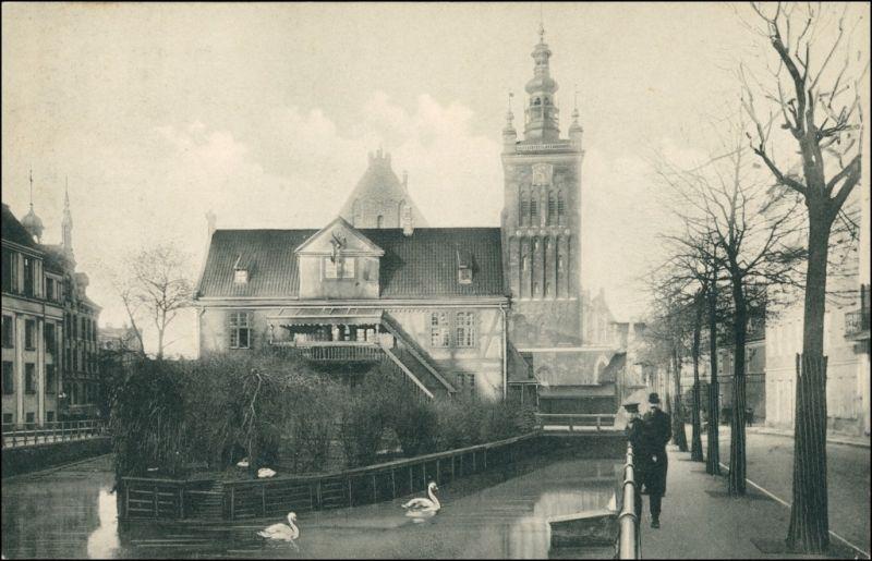 Danzig Gdańsk/Gduńsk St. Katharinen, Müllergewerkhausund Straße 1913