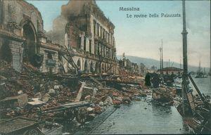 Cartoline Messina Erdbeben von Messina - Palazzata 1908