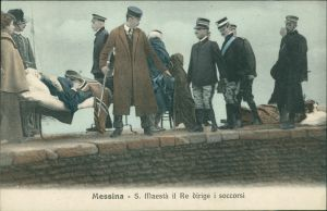 Cartoline Messina Erdbeben von Messina Bergung der Verletzten 1908