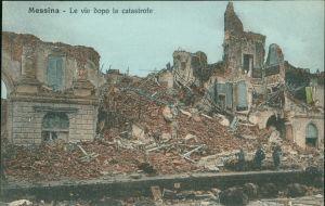 Cartoline Messina Erdbeben von Messina Rettungseinsatz 1908