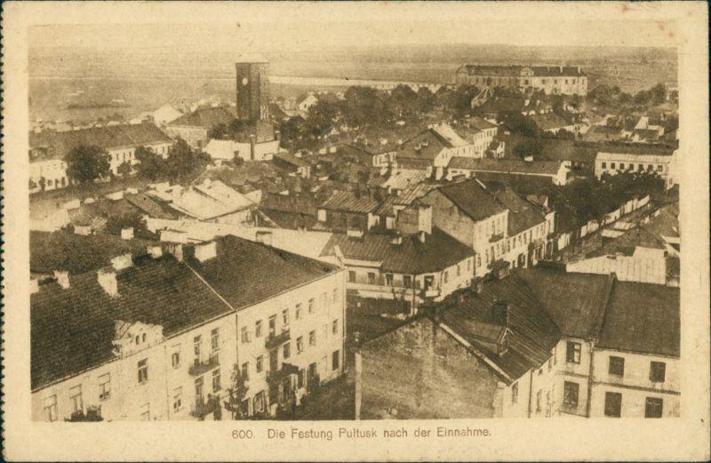 Pultusk (1941-45 Ostenburg) Pułtusk Blick auf die Stadt 1914