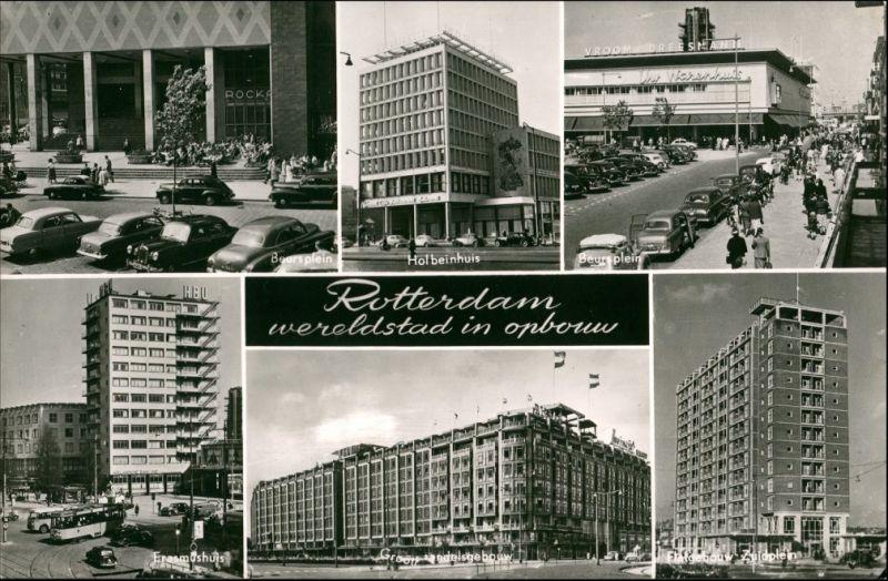 Postkaart Rotterdam Rotterdam MB: Straßen und Neubauten 1962