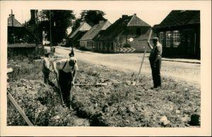 Deutschland Propaganda - DDR, Arbeiter an der Dorfstraße 1955 Privatfoto
