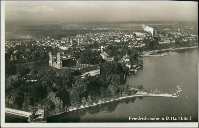 Ansichtskarte Friedrichshafen Luftbild: Stadt, Fabriken 1931