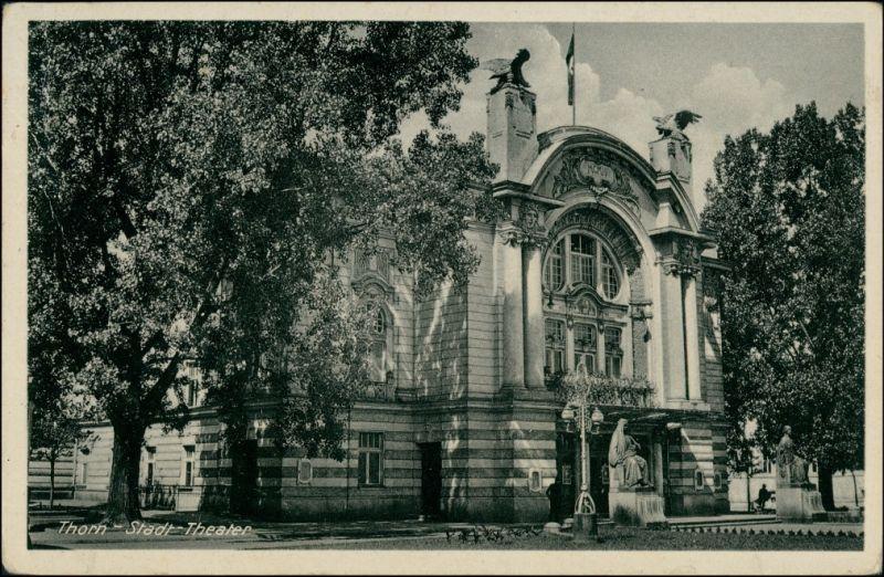 Thorn Toruń Stadttheater Werbung Tabakwaren Mentz Breite Straße 1942