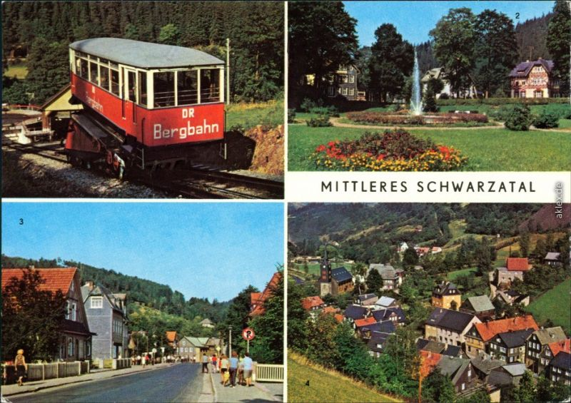 Obstfelderschmiede Bergbahn Schwarzmühle Sitzendorf Meilenbach-Glasbach 1980