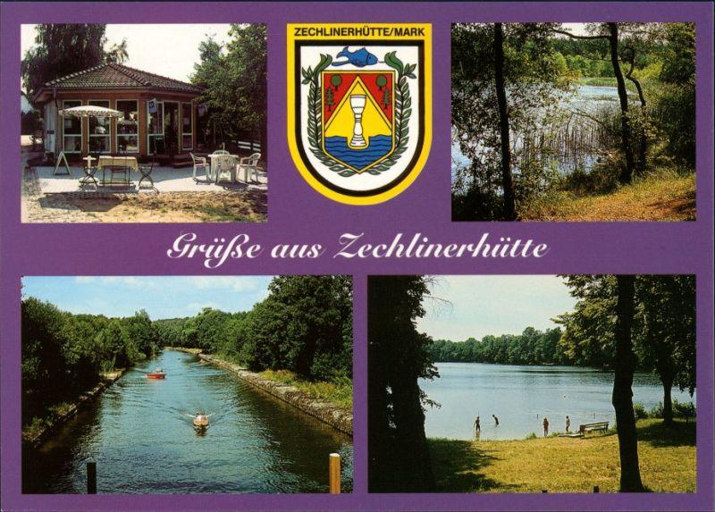 Zechlinerhütte/Mark-Rheinsberg Eiscafé, Wappen, Kamper See, Zootzenkanal 2001
