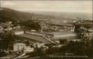 Ansichtskarte Bad Sulza Blick auf die Gradierwerke 1928