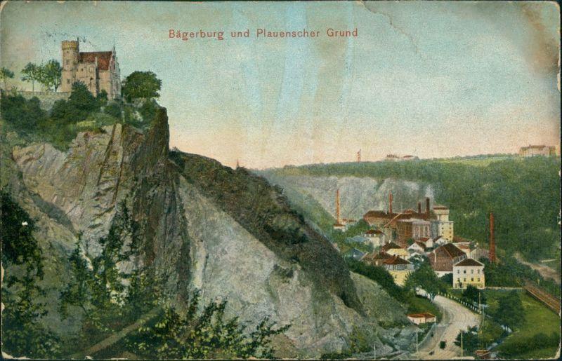 Ansichtskarte Plauen-Dresden Plauenscher Grund, Brauerei 1908