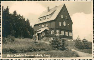 Ansichtskarte Oberbärenburg-Altenberg (Erzgebirge) Haus Charlotte 1932