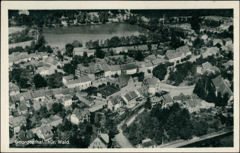 Ansichtskarte Georgenthal (Thüringen) Luftbild 1962