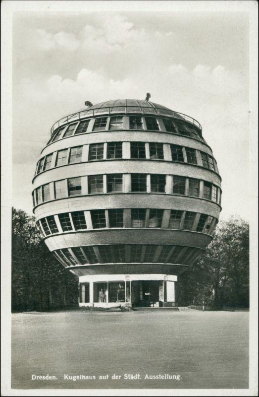 Ansichtskarte Dresden Partie am Kugelhaus 1932