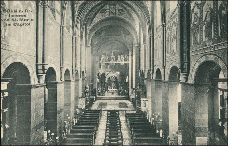Ansichtskarte Köln Inneres St. Maria im Capitol 1911
