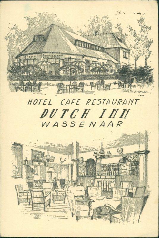 Postkaart Wassenaar 2 Bild: Dutch Inn 1955