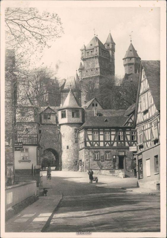 Foto Braunfels (Lahn) Stadttor mit Menschen 1930 Privatfoto 0