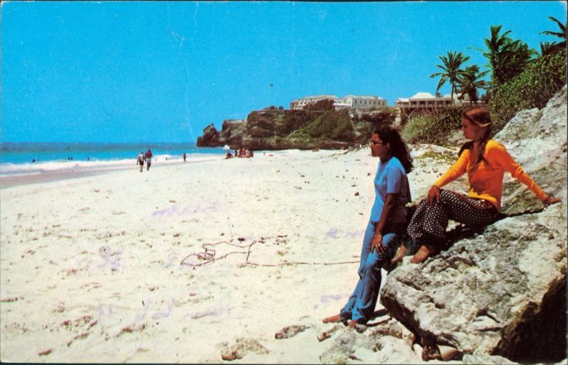 Postcard Saint Philip Crane Beach, W.I. 1966 0
