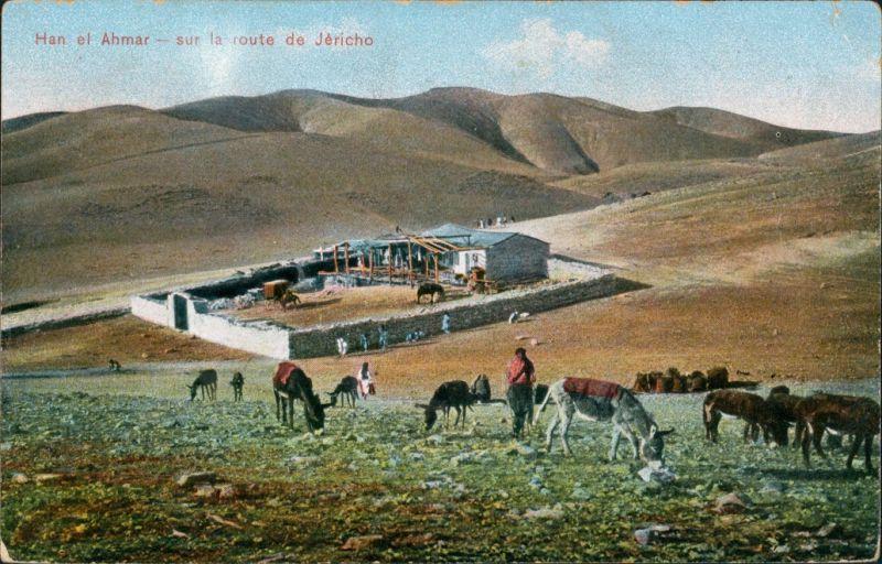 Jericho יְרִיחוֹ أريحا Han el Ahmar/Bauernhof mit Ziegen 1913 0