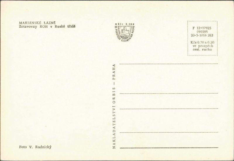 Marienbad Mariánské Lázně Zotavovny ROH v Ruské třídě 1963 1