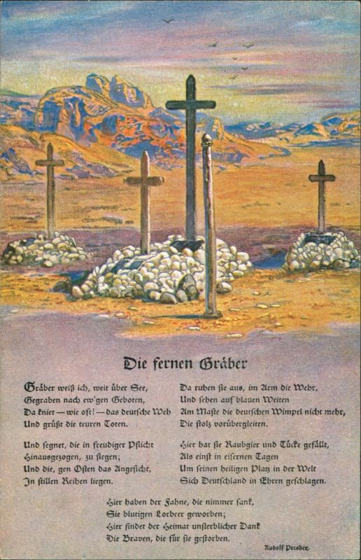 Deutsche Soldatengräber Südwestafrika, Weltkrieg, Kolonialkriegerdank 1914 0