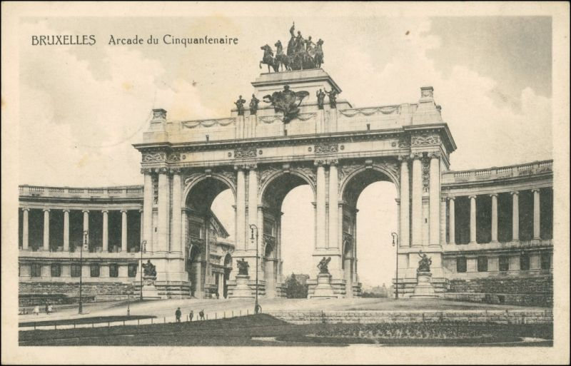 Brüssel Bruxelles Arcade  Cinquantenaire, 1. WK    /KD  Nr. 47  AK Brüssel 1916 0