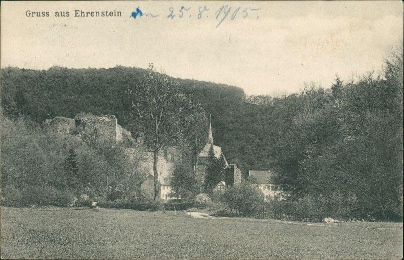 Ansichtskarte Ehrenstein-Asbach (Westerwald) Burg und Kloster Ehrenstein 1905