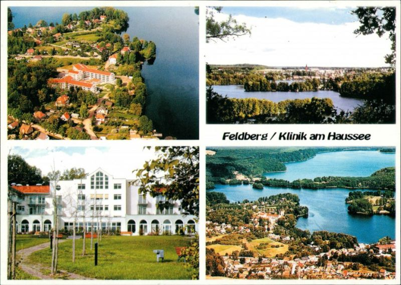 Feldberg: Mehrbildkarte, Klinik am Haussee, Feldberger Seenlandschaft 1996