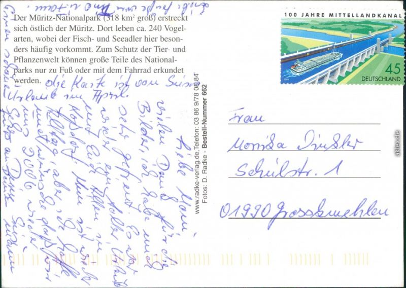 Müritz Nationalpark - Teuch mit Uferbereich, Kanustation, Kutsche 1998 1