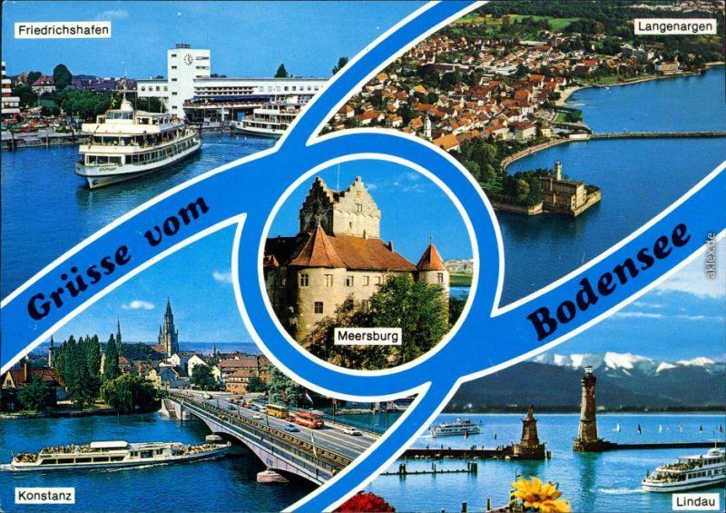 Bodensee Friedrichshafen Fähre, Langenargen, Konstanz Brücke, Lindau Hafen 1988 0