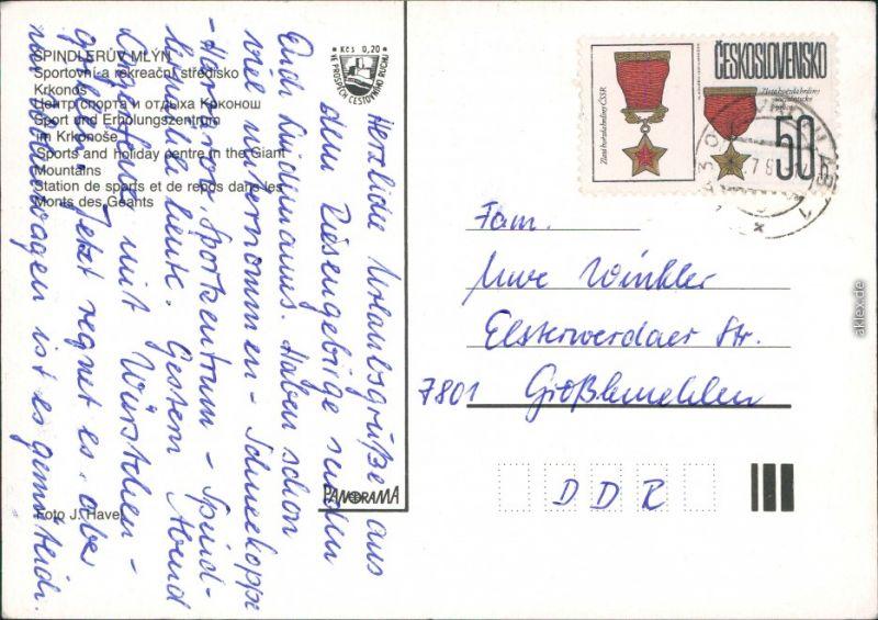 Spindlermühle Špindlerův Mlýn | Spindelmühle Sport- und Erholungszentrum 1975 1