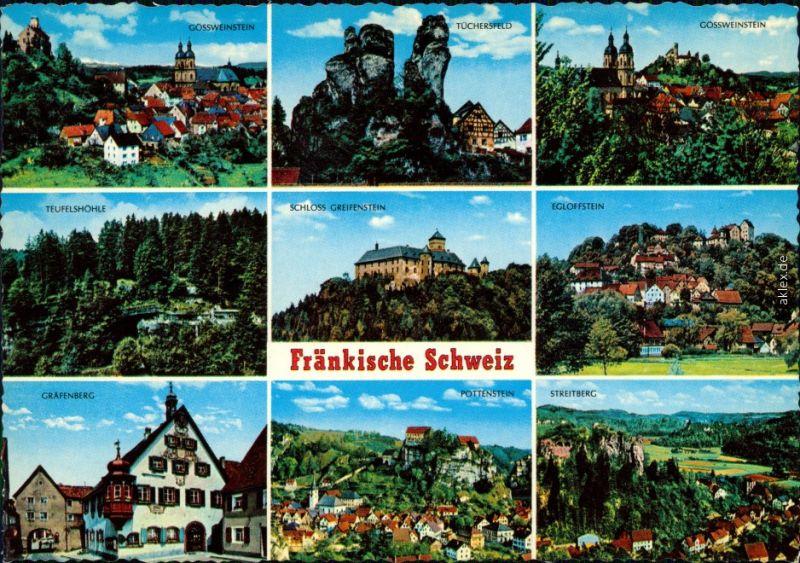 Fränkische Schweiz: Teufelshöhe, Tüchersfeld, Streitberg, Gössweinstein 1985 0