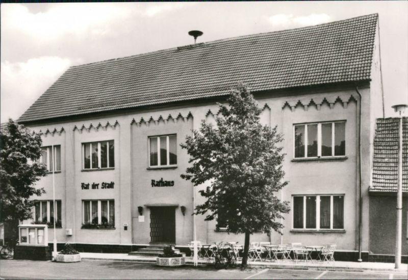 Ansichtskarte Wahrenbrück-Uebigau-Wahrenbrück Partie am Rathaus 1980 0