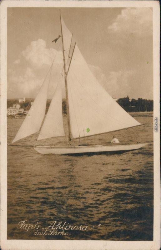 Ansichtskarte  Segelboot: Papir Aktinosa druh Särka 1929 0